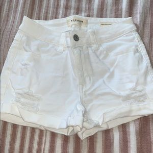 Pacsun white ripped shorts